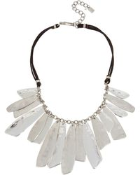 """Robert Lee Morris - Silver-tone Patina Drop Leather 16-1/2"""" Statement Necklace - Lyst"""