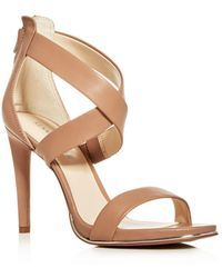 Kenneth Cole - Women's Brooke Leather Crisscross High-heel Sandals - Lyst