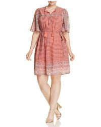 Lucky Brand - Jenna Geo Print Peasant Dress - Lyst