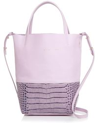 Alice.D - Small Embossed Leather Tote - Lyst