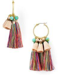 Aqua - Large Fringe Drop Earrings - Lyst