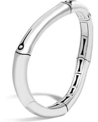 John Hardy | Sterling Silver Bamboo Curved Hinged Bangle | Lyst