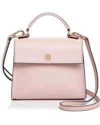 232408e10c6f Tory Burch - Parker Small Leather Satchel - Lyst
