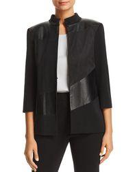 Misook - Faux Leather-panel Jacket - Lyst