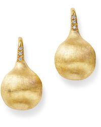 Marco Bicego - 18k Yellow Gold Africa Constellation Medium Diamond Drop Earrings - Lyst