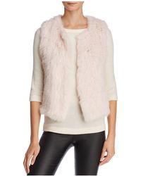 525 America - Rabbit Fur Cropped Vest - Lyst