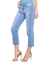 Liverpool Jeans Company - Bryce Embroidered Crop Straight Jeans In Devonshire - Lyst