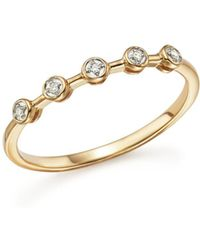 Adina Reyter - 14k Yellow Gold Five Bezel Diamond Ring - Lyst