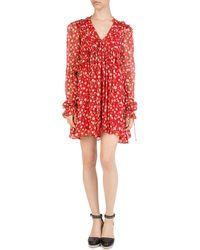 The Kooples - Rosa Rosa Floral-print Mini Dress - Lyst