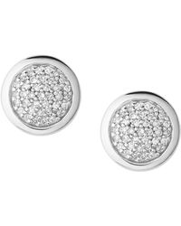 Links of London - Diamond Essentials Pavé Round Stud Earrings - Lyst