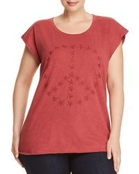 Lucky Brand - Star Embroidered Peace Top - Lyst