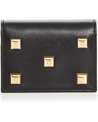 Ferragamo - Studio Studded Leather Wallet - Lyst