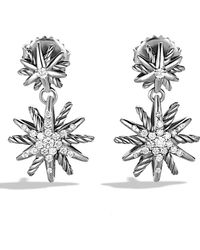 David Yurman - Starburst Double-drop Earrings With Diamonds - Lyst