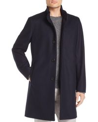 Theory - Belvin Button-front Topcoat - Lyst