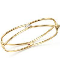 Roberto Coin - 18k Yellow Gold Classic Parisienne Diamond Bangle - Lyst