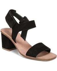 Via Spiga - Women's Kamille Suede Block Heel Ankle Strap Sandals - Lyst