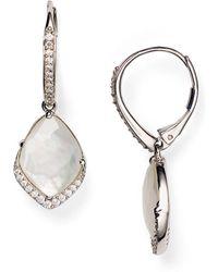 Nadri - Pavé Mother-of-pearl Drop Earrings - Lyst