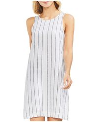 Vince Camuto - Pinstriped Sleeveless Shift Dress - Lyst