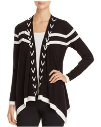 Avec - Stitched Open Front Cardigan - Lyst