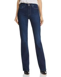 PAIGE - Manhattan High Rise Bootcut Jeans In Pompeii - Lyst
