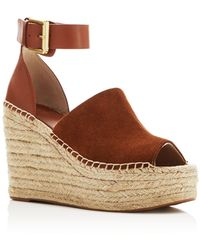 Marc Fisher - Adalyn Leather Wedge Sandals - Lyst