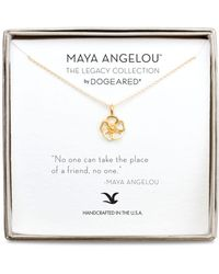 Dogeared - 'no One Can Take The Place' Pendant Necklace - Lyst