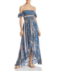 4efa3ca0e9 Surf Gypsy Tie - Dye Maxi Dress Swim Cover - Up in Blue - Lyst
