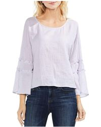 Vince Camuto - Crinkled Ruffle-sleeve Top - Lyst