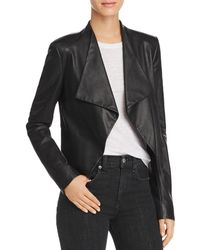 Theory - Draped Leather Jacket - Lyst