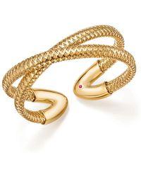 Roberto Coin | 18k Yellow Gold Primavera Crisscross Cuff | Lyst