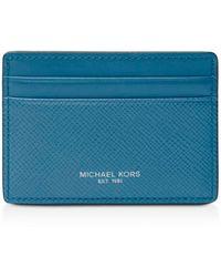 Michael Kors - Harrison Cross Grain Leather Card Case - Lyst