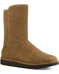 UGG - Abree Ll Short Suede And Sheepskin Boots - Lyst
