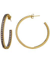 Freida Rothman - Classic Pavé Hoop Earrings - Lyst