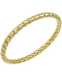Chimento - 18k Yellow Gold Stretch Spring Collection Disc Rope Bracelet - Lyst