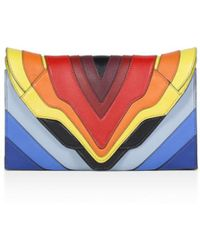 Elena Ghisellini - Selina Leather Clutch - Lyst