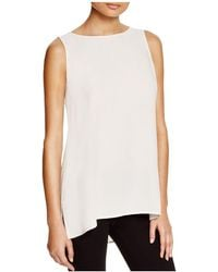 Eileen Fisher | System High/low Silk Tank | Lyst