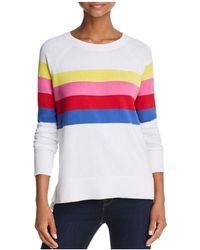 Aqua | Rainbow Striped Sweater | Lyst