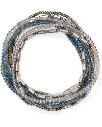 Aqua - Beaded Stretch Bracelets - Lyst