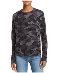 Aqua - Camo Crewneck Cashmere Sweater - Lyst