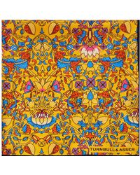 Turnbull & Asser - Floral Pocket Square - Lyst