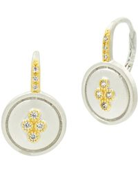 Freida Rothman - Fleur Bloom Small Clover Earrings In 14k Gold - Plated & Rhodium - Plated Sterling Silver - Lyst