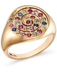 Shebee - 14k Yellow Gold Ombré Sapphire Spiral Cocktail Ring - Lyst