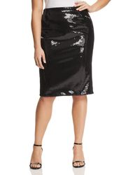 Marina Rinaldi - Occipite Sequined Pencil Skirt - Lyst