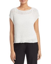 Eileen Fisher - Cap - Sleeve Sweater - Lyst