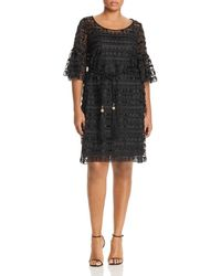 293c4798be Marina Rinaldi Houndstooth Check Dress in Black - Lyst