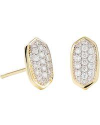 Kendra Scott - Amelee Diamond Stud Earrings In 14k Yellow Gold - Lyst