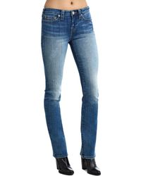 True Religion - Billie Mid Rise Straight Leg Jeans - Lyst