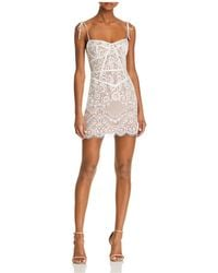 For Love & Lemons - Tati Lace Corset Dress - Lyst