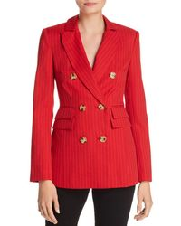 C/meo Collective - Go From Here Double-breasted Pinstriped Blazer - Lyst