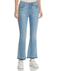 10 Crosby Derek Lam - Gia Mid-rise Cropped Flare Jeans In Light Wash - Lyst